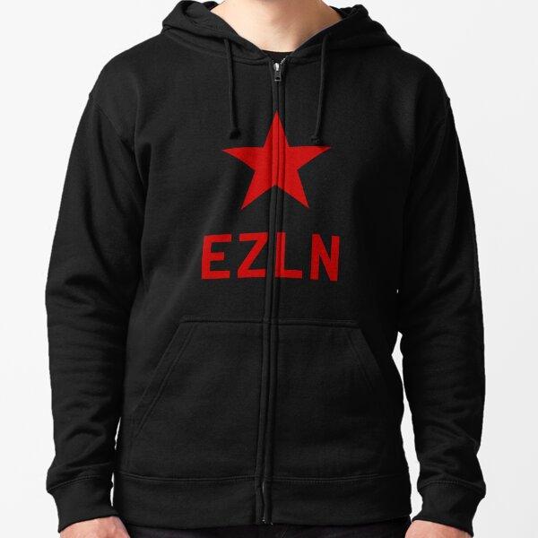 Bandera EZLN Sudadera con capucha y cremallera