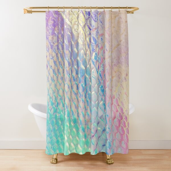 Iridescent Scales Shower Curtain