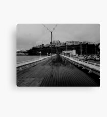 Cold desolate pier Canvas Print