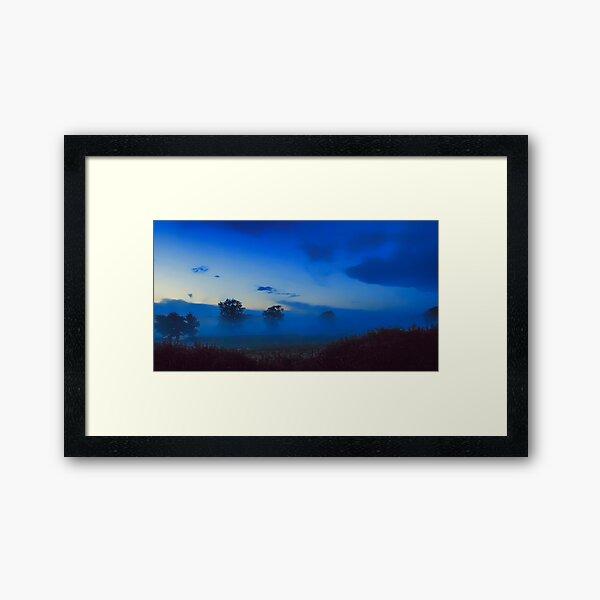 June mist at Clifton-Upon-Dunsmore Framed Art Print