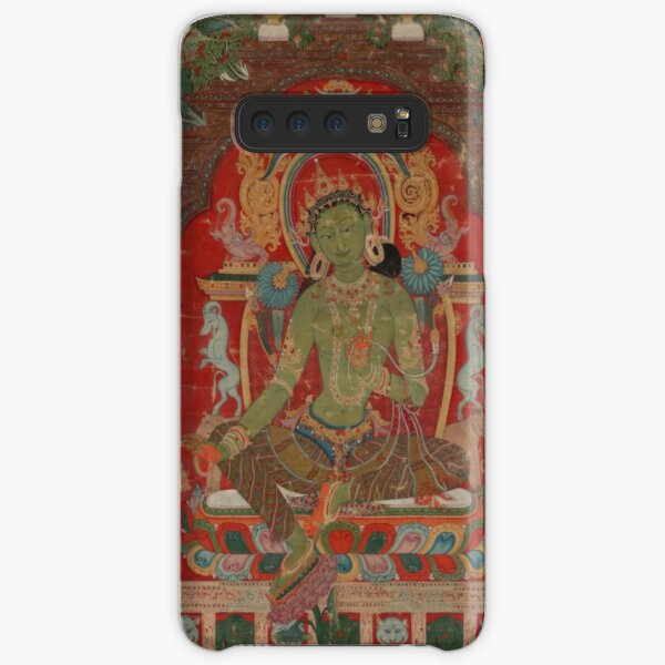 Green Tara (Khadiravani) is usually associated with protection from fear and the eight obscurations: pride, ignorance, hatred and anger,  jealousy, bandits and thieves and so on.  Samsung Galaxy Snap Case