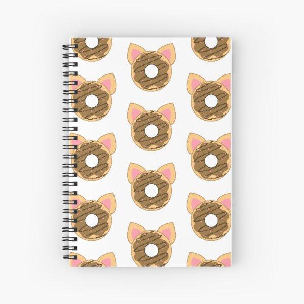 Pixel Cat Donut Spiral Notebook