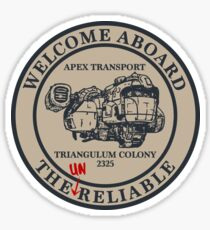 Welcome Aboard The Unreliable | The Outer Worlds Sticker