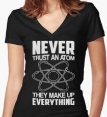Humor Chemistry Science Women's Fitted V-Neck T-Shirt