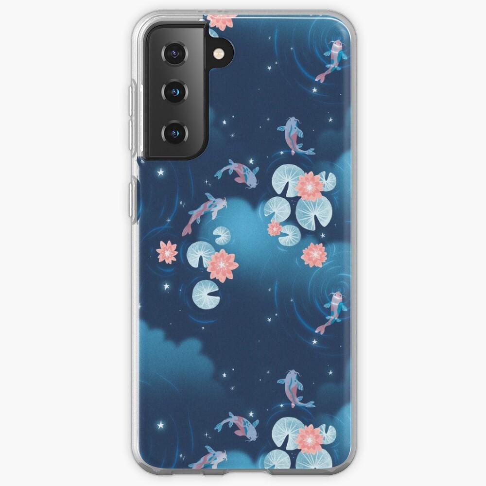 Koi pond - night Case & Skin for Samsung Galaxy
