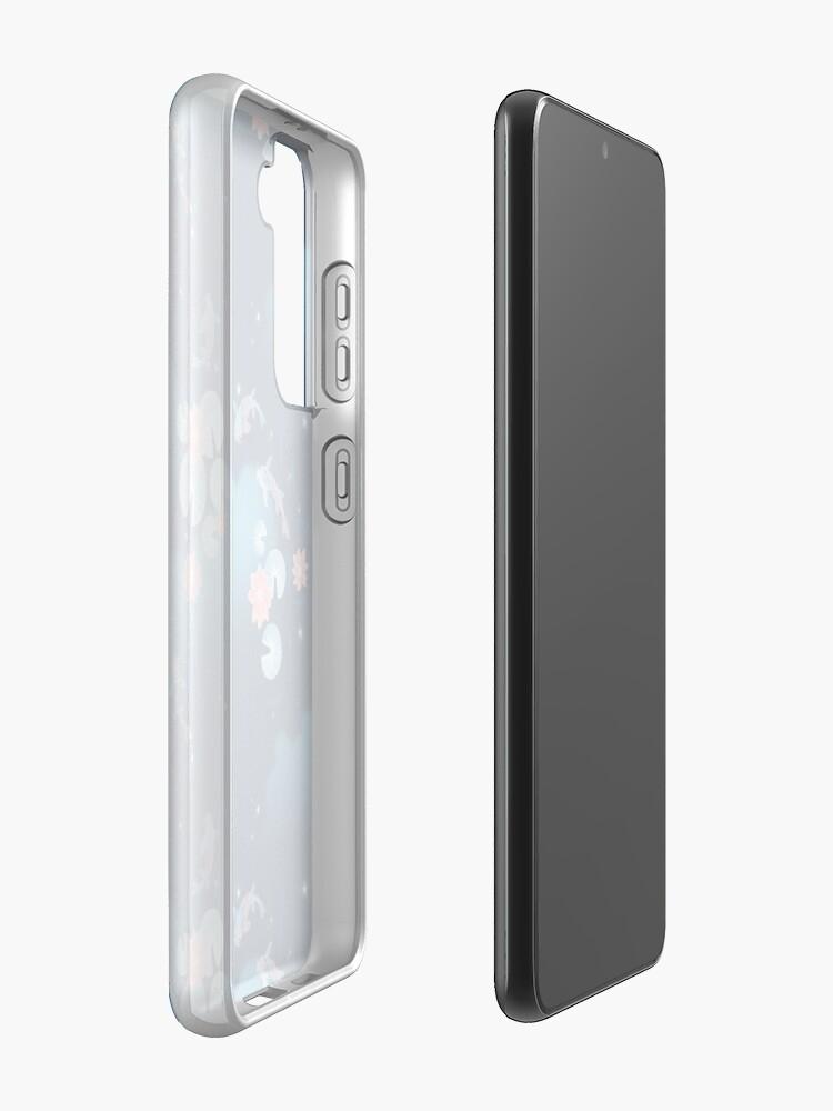 Alternate view of Koi pond - night Case & Skin for Samsung Galaxy