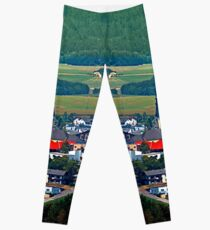 The village, the forest and the mountains Leggings