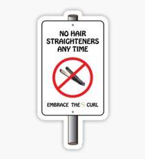 No Straighteners Sticker