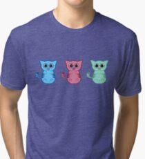 Three Sleepy Kittens Tri-blend T-Shirt