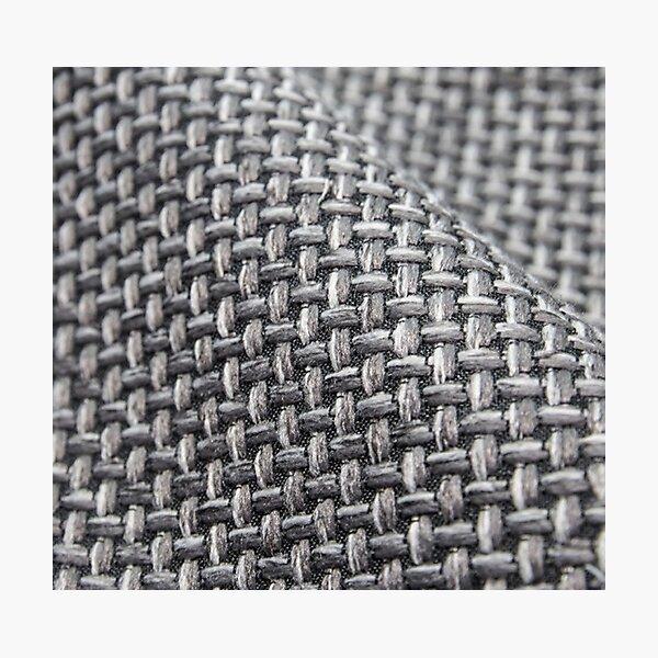 #Pattern, #weaving, #fiber, #rough, design, abstract, net, wool, canvas, craft, cotton, textile Photographic Print