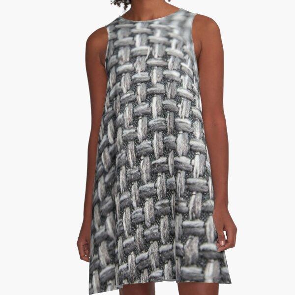 #Pattern, #weaving, #fiber, #rough, design, abstract, net, wool, canvas, craft, cotton, textile A-Line Dress