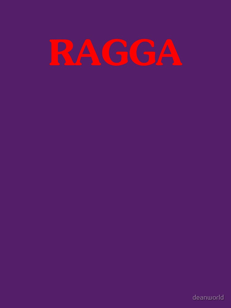 Ragga T-shirt Raggamuffin Tee Reggae Dancehall by deanworld
