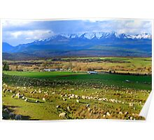 Te Anau Downs. South Island, New Zealand. Poster