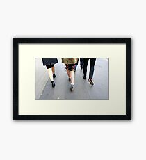 Fashion On The Move Framed Print