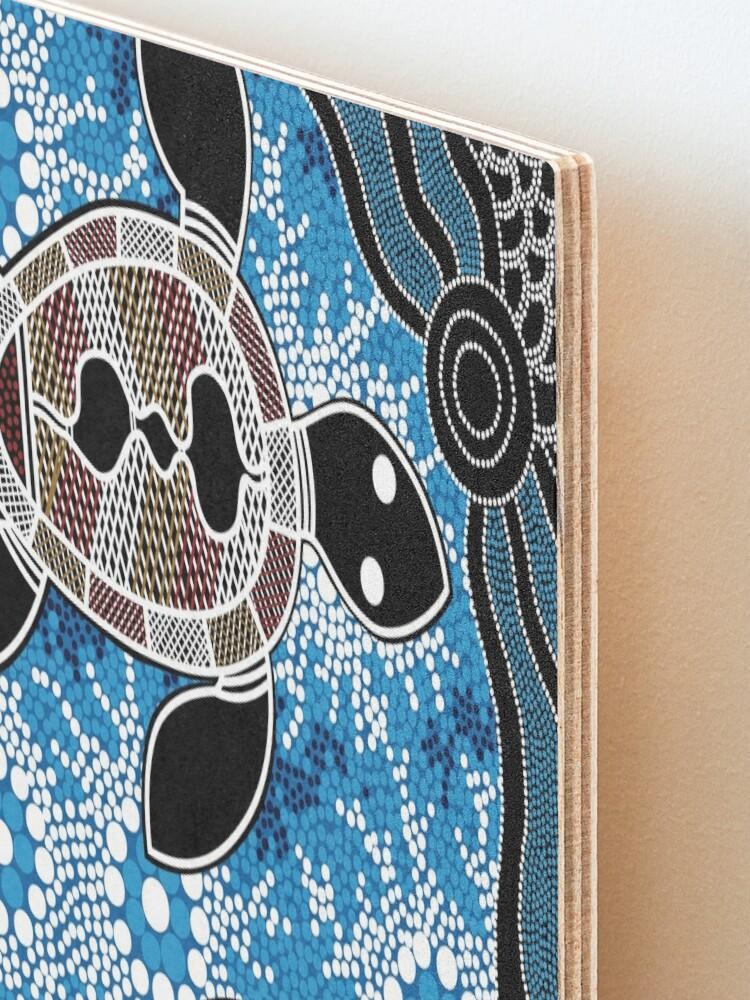 Alternate view of Aboriginal Art Authentic - Sea Turtles Mounted Print