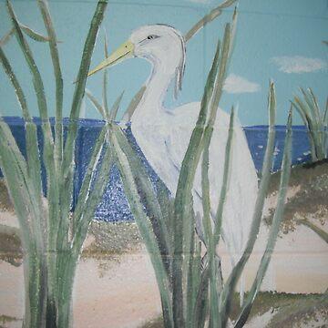 Egret by Aryahvayu