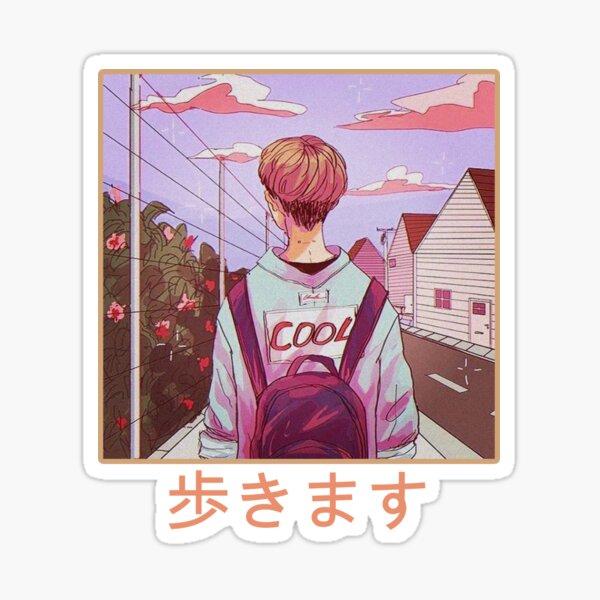 Lofi Manga 歩 き ま す Sticker