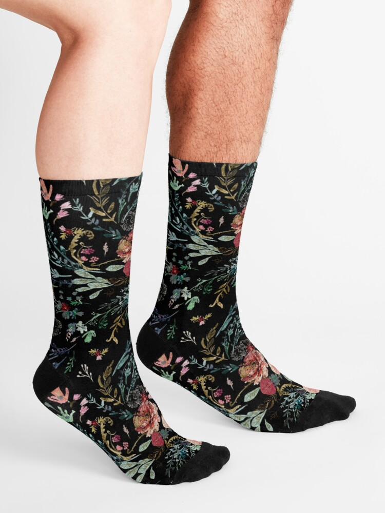Alternate view of Midnight Floral Socks