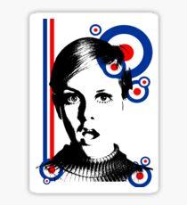 mod girl twiggy Sticker