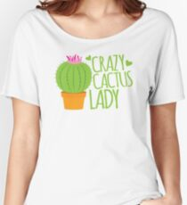 Crazy Cactus Lady Women's Relaxed Fit T-Shirt