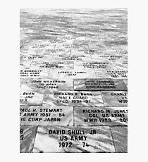 Memorial to Fallen Soldiers Photographic Print