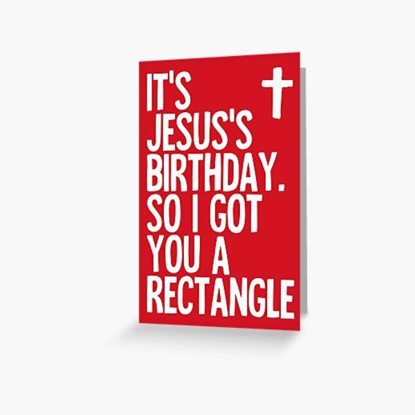 I Got You a Rectangle - funny, sarcastic Christmas card Greeting Card