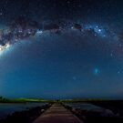 Port Fairy Griffith Island Panoramic Milky Way by hangingpixels