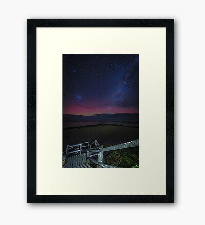 Port Fairy Aurora - Pea Soup Framed Print