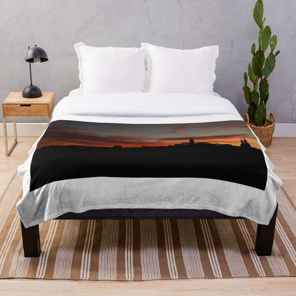 Telegraph Hill Sunrise Throw Blanket