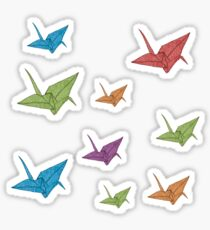 Paper Cranes Sticker