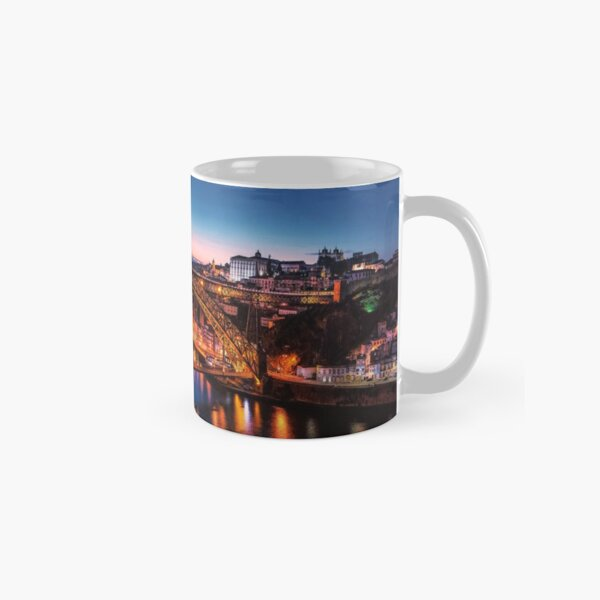 Portugal City Lights Bridge Crossing  Classic Mug
