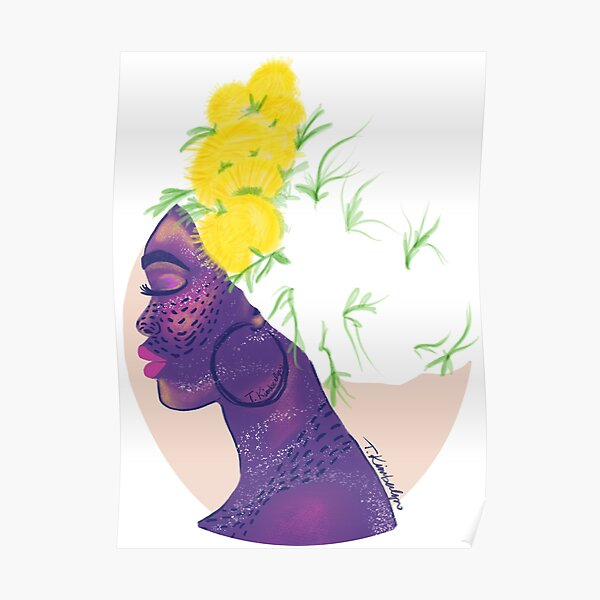 Dandelions in my Hair, Natural Hair, Headwrap, Turban Poster