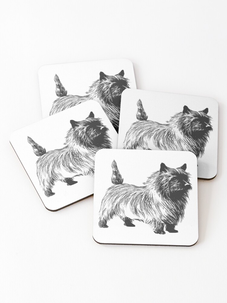 Cairn Terrier Dog Coasters Set Of 4 By Animalcreative Redbubble