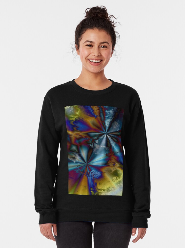 Alternate view of Hyperdrive: sci-fi outer space Pullover Sweatshirt