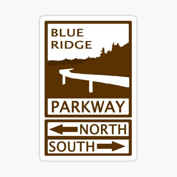 Blue Ridge Parkway Road Sign Sticker