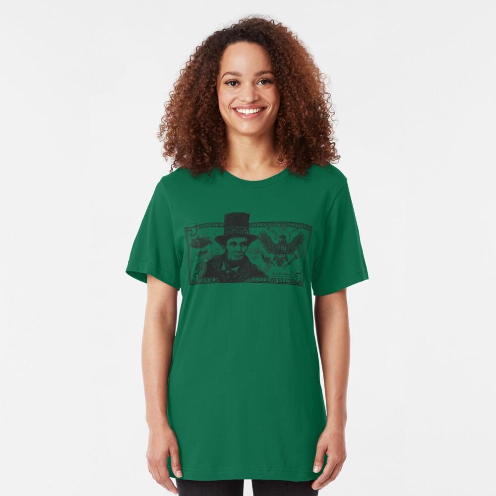 Steampunk Lincoln Slim Fit T-Shirt