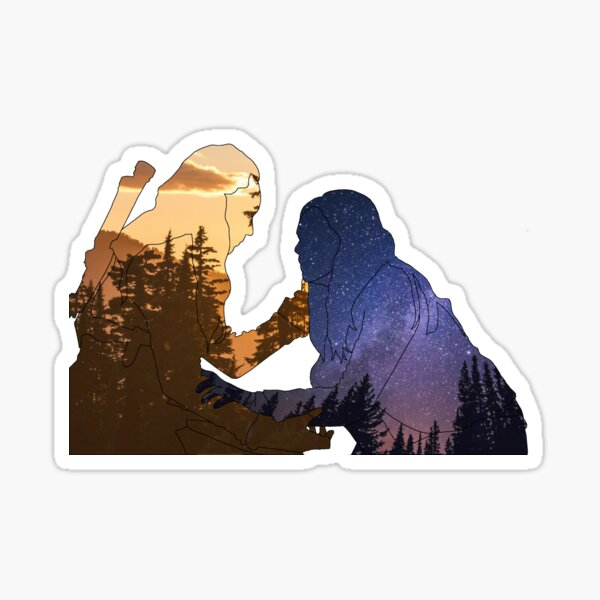 Clarke and Lexa, The Earth and Sky Sticker