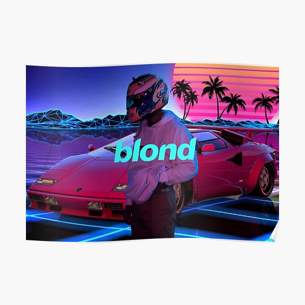 Blonde Retrowave Poster