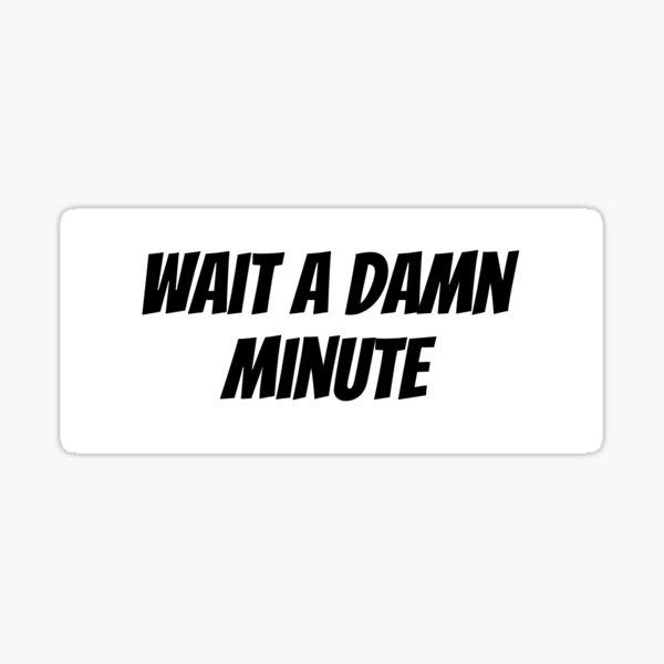 wait a damn minute Sticker