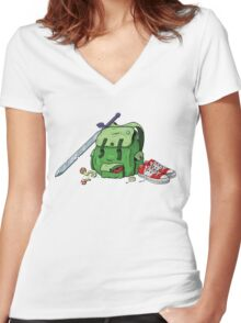 Adventure Pack Women's Fitted V-Neck T-Shirt
