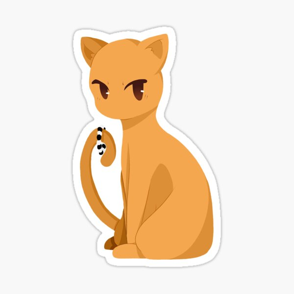 Cesta de frutas Kyo Sohma Cute Cat Pegatina