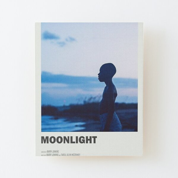 moonlight the movie -  Wood Mounted Print