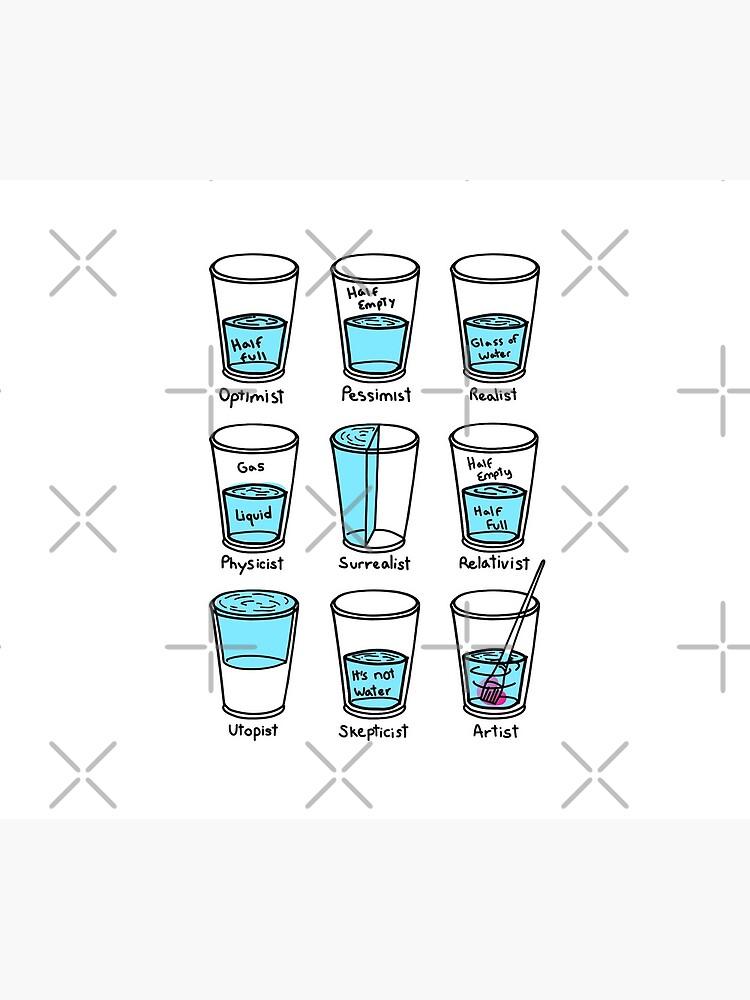 Glass half empty meme - Artist edition by polygrafix
