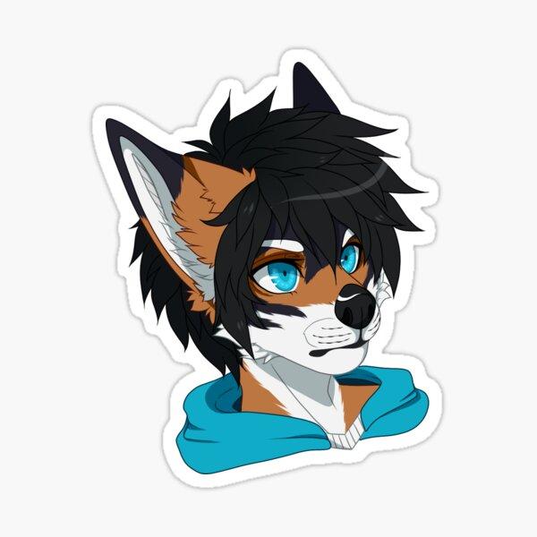 Digital Furry Flat Coloured Symmetrical Headshot