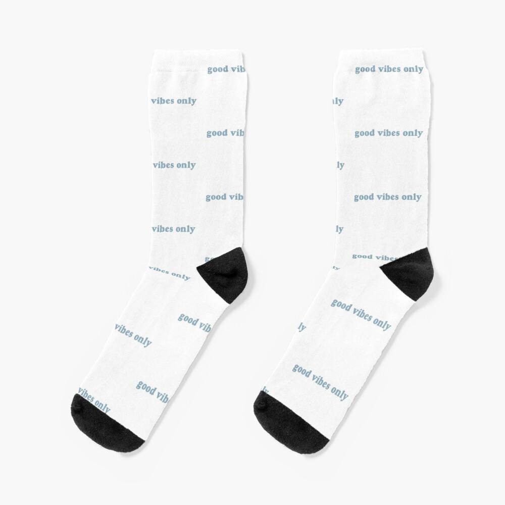 Fun Socks Good Vibes Only Lucky Socks Gift Socks  ** NOT VINYL ** Custom Socks