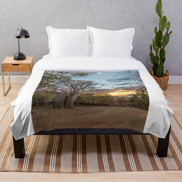Creative Collection - Kimberley Boab Tree at Sunset Throw Blanket