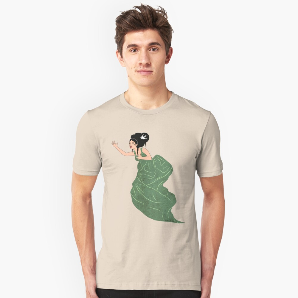The Singing-bird Muse Unisex T-Shirt Front