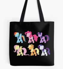 My Little Pony Friendship is Magic: Silhouette Art Tote Bag