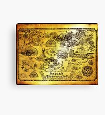 Hyrule Map Legend of Zelda Canvas Print