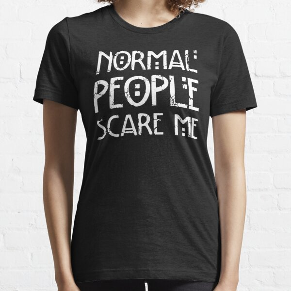Crew Hen Party Iron On Fabric Heat Transfer Normal People Scare Me Print T Shirt